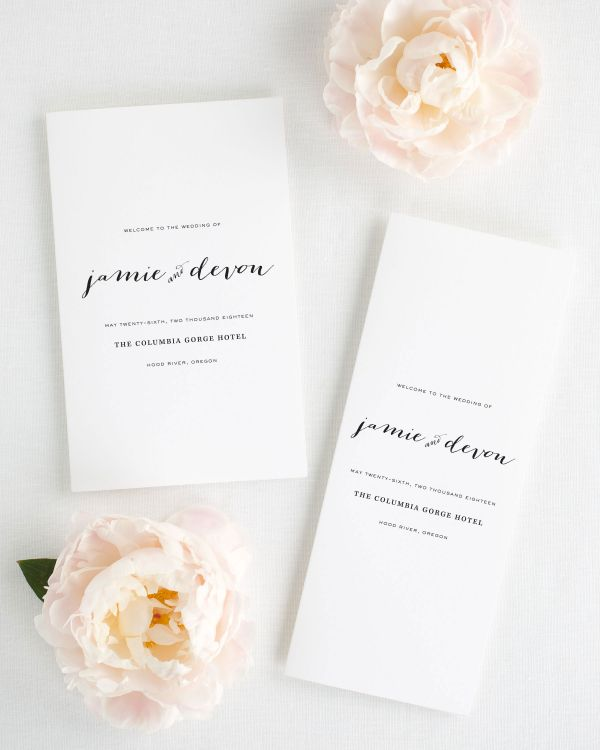 Flowing Script Booklet Wedding Programs