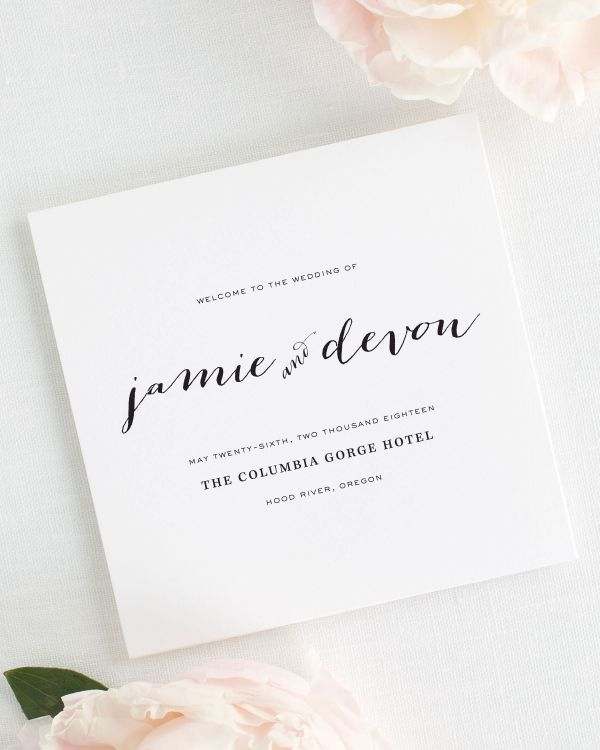 Flowing Script Wedding Programs