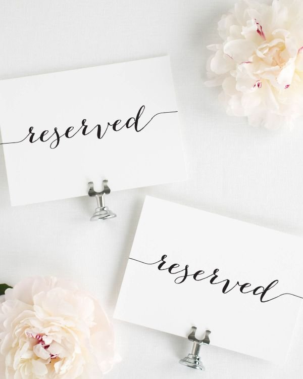 Flowing Script Reserved Signs