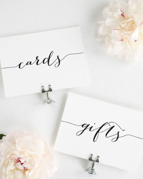 Flowing Script Wedding Signs Package
