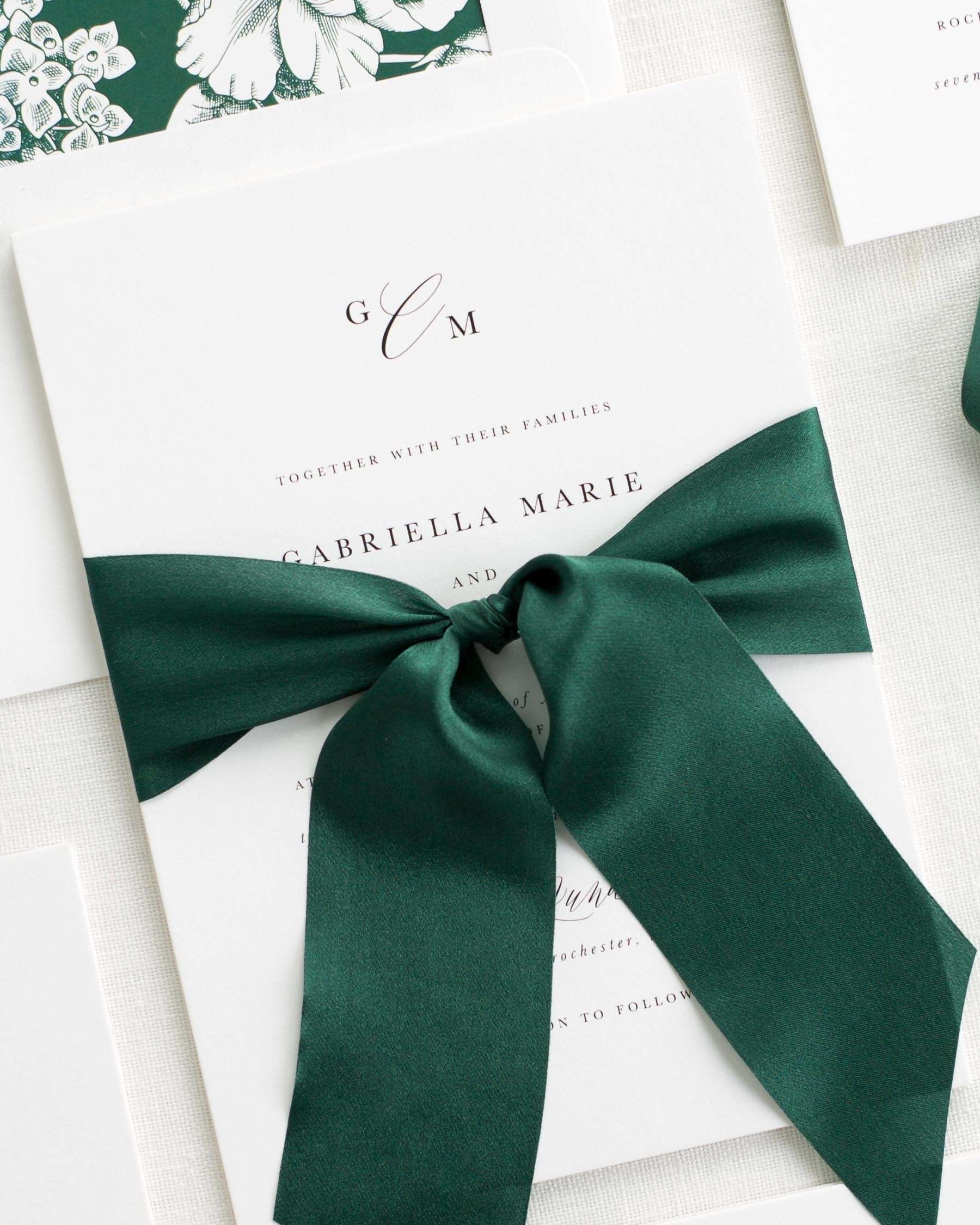 Gabriella Ribbon Wedding Invitations