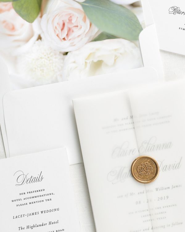 Garden Elegance Floral Wedding Invitations