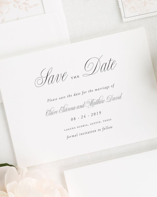 Garden elegance ribbon wedding invitations ribbon wedding garden elegance save the date cards stopboris Images