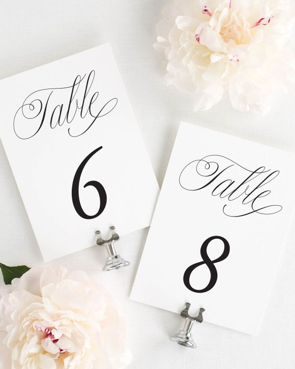Garden Elegance Table Numbers