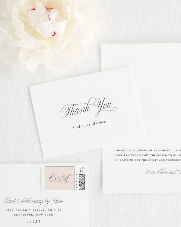 Garden Elegance Thank You Cards