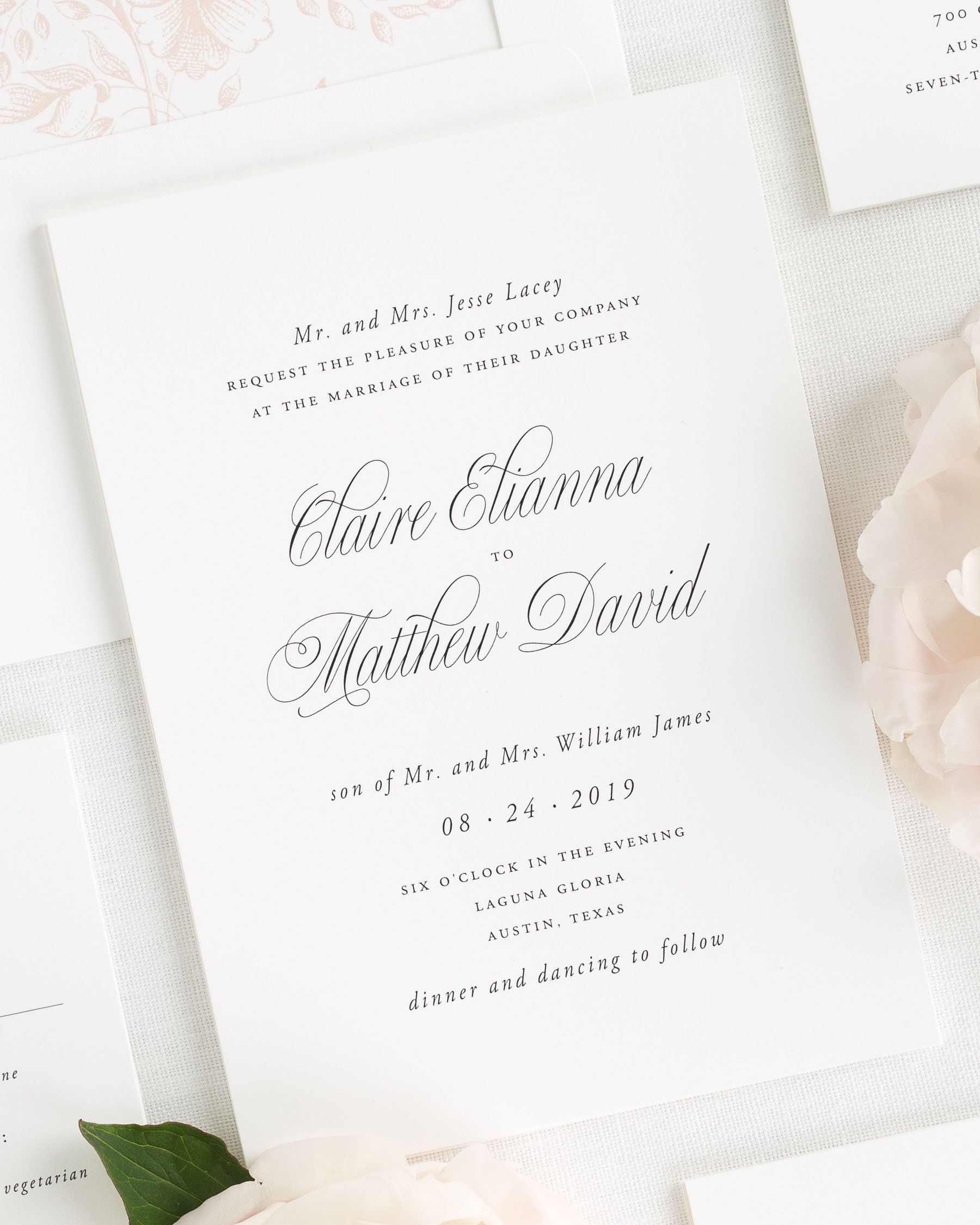 Garden Elegance Wedding Invitations