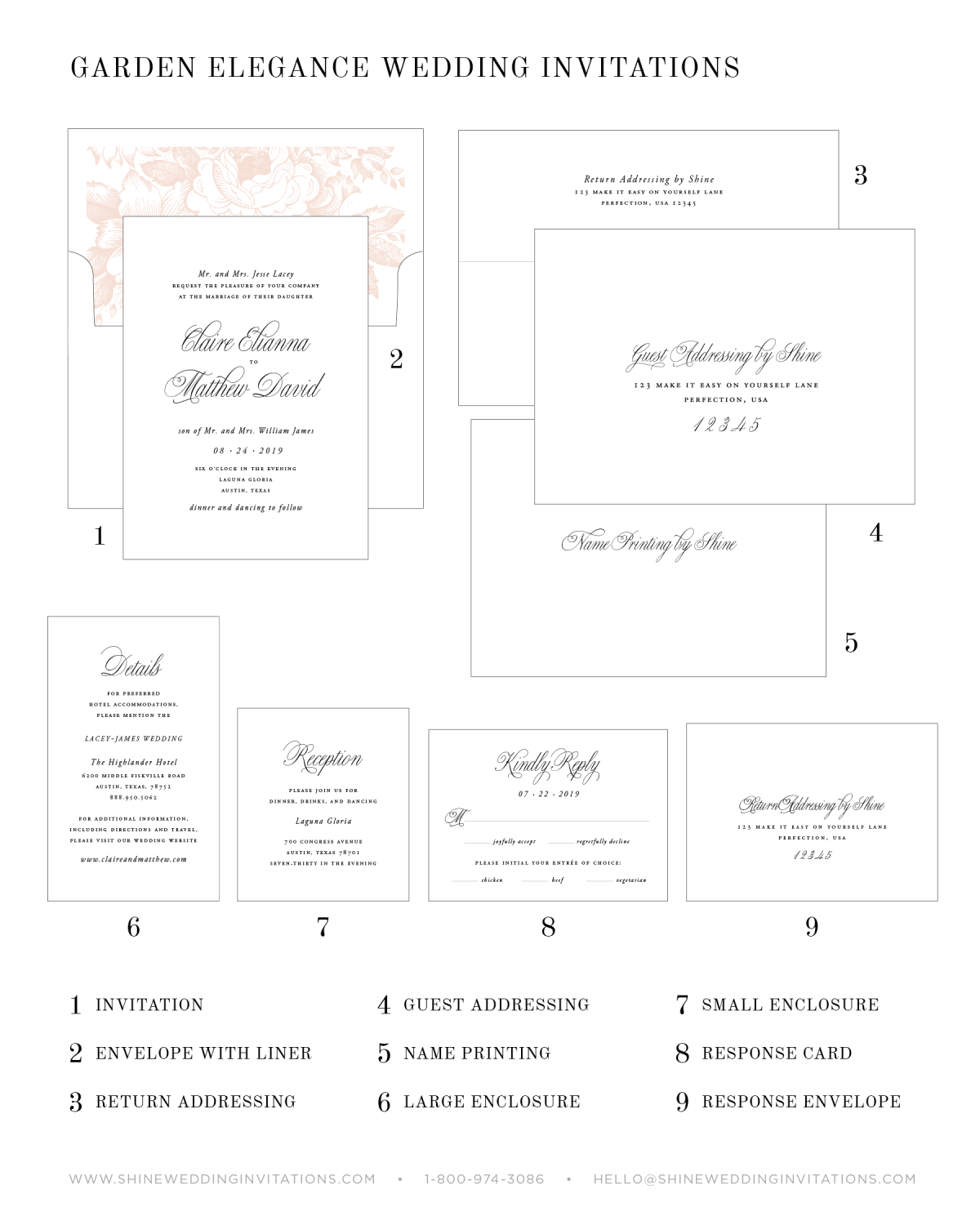 Wedding Invitation Components and Pieces