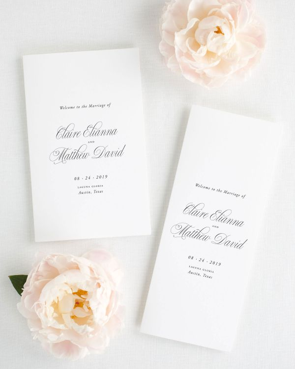 Garden Elegance Booklet Wedding Programs