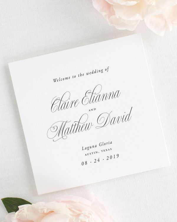 Garden Elegance Wedding Programs