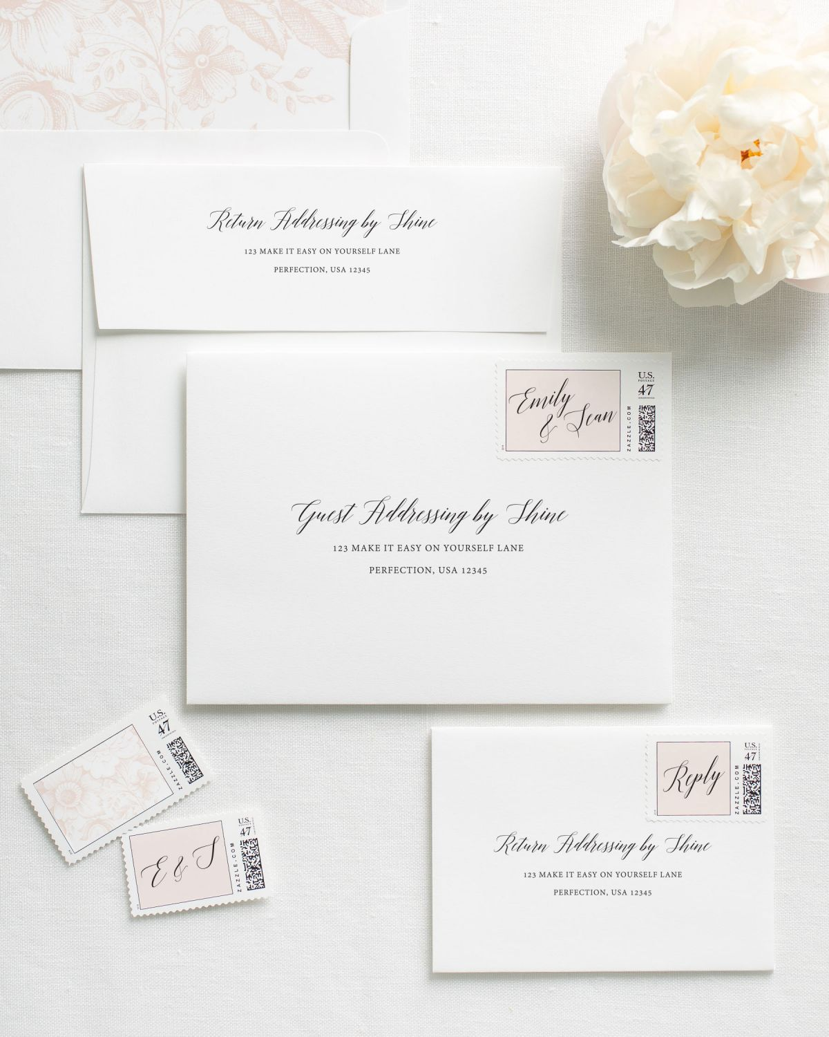 Envelopes with Addressing Printing for Wedding Invitations