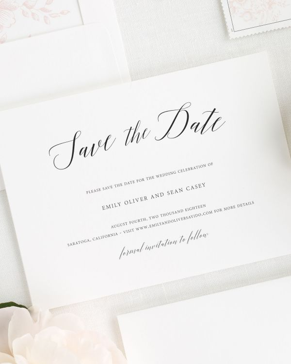 Garden Romance Save the Date Cards