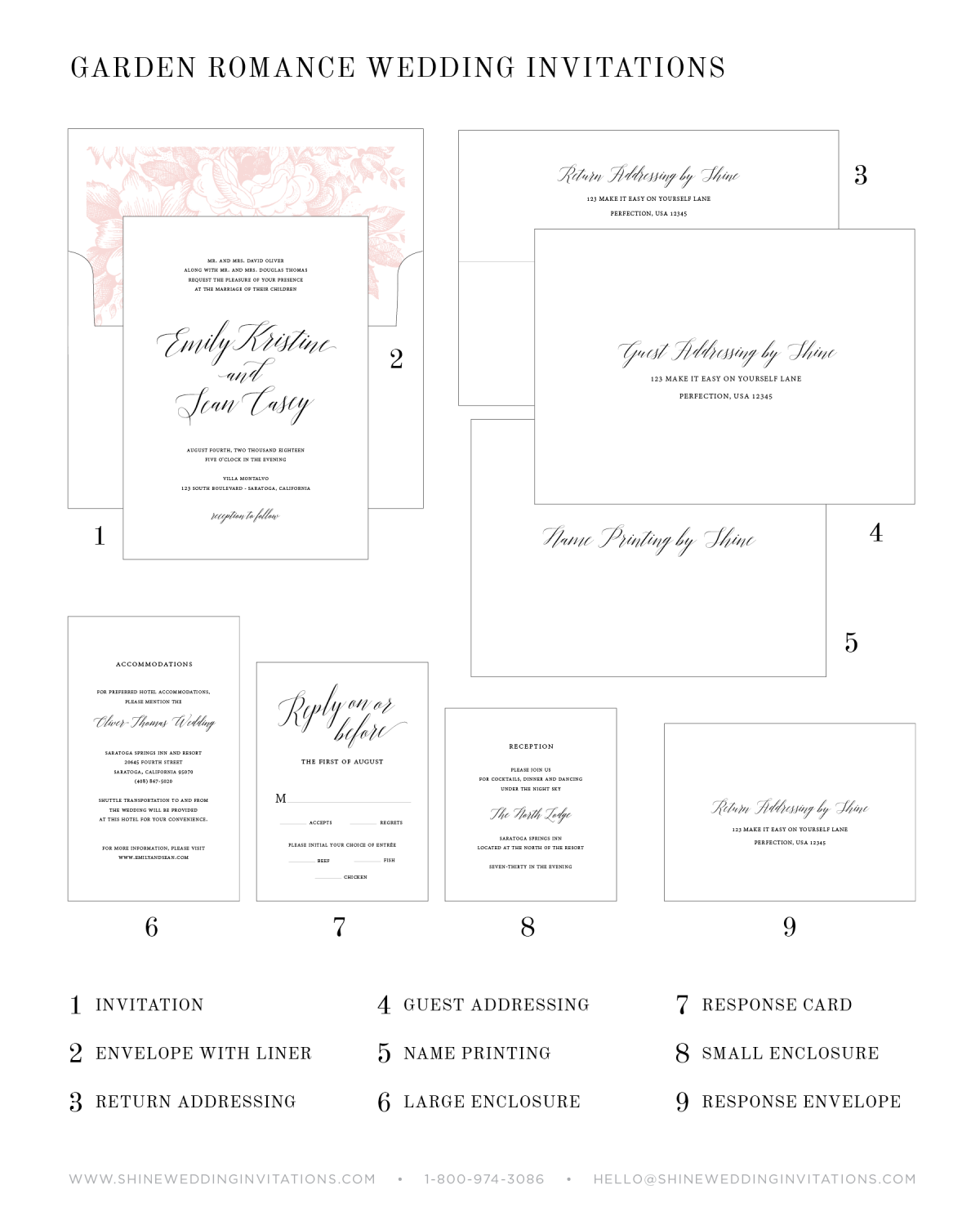Wedding Invitatin Pieces