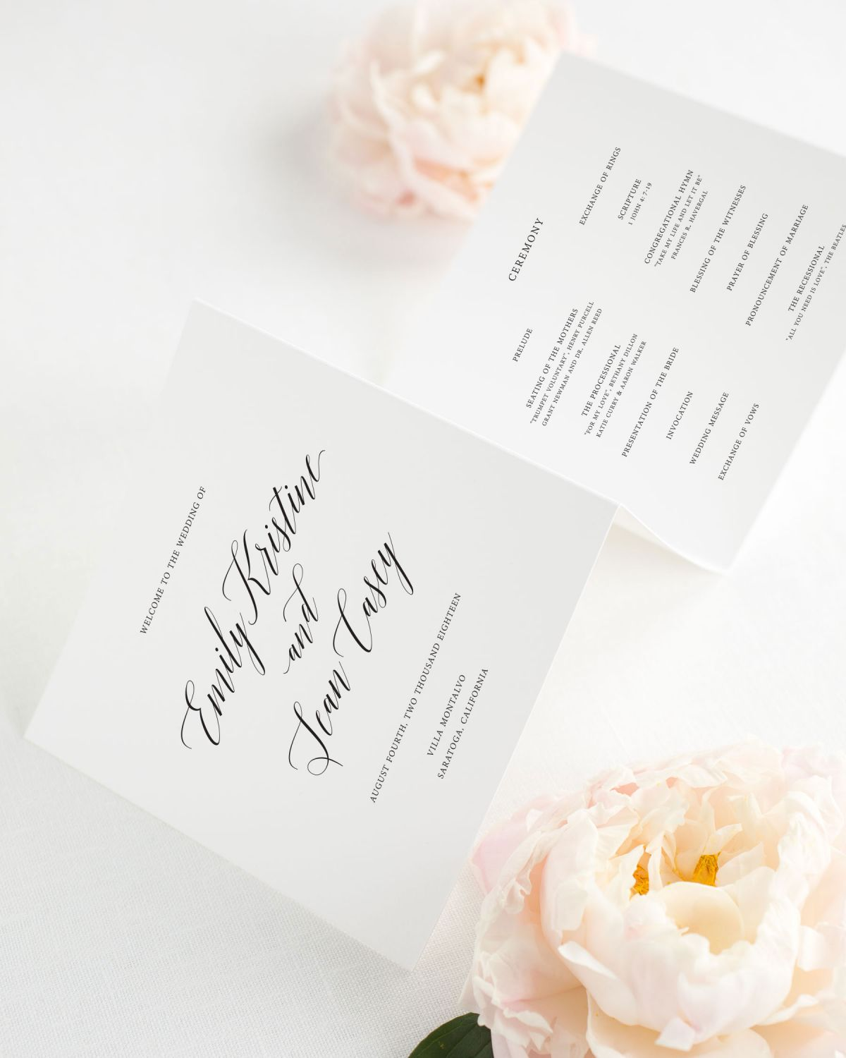 Garden Romance Wedding Programs