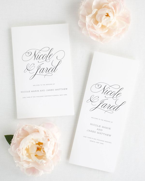 Garden Script Booklet Wedding Programs