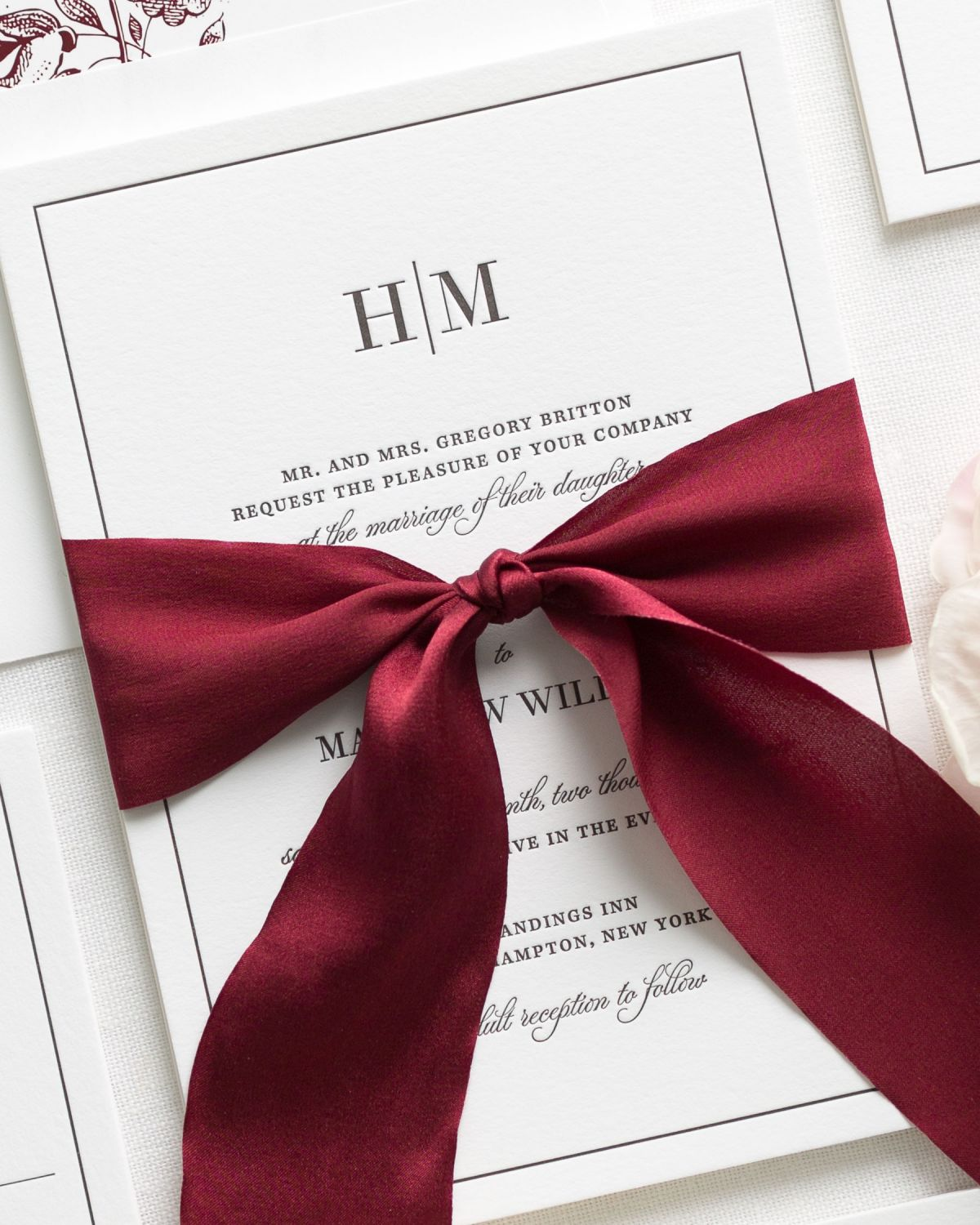 Why we can\'t get enough of these burgundy letterpress wedding ...