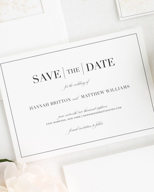 Glam Monogram Save the Date Cards