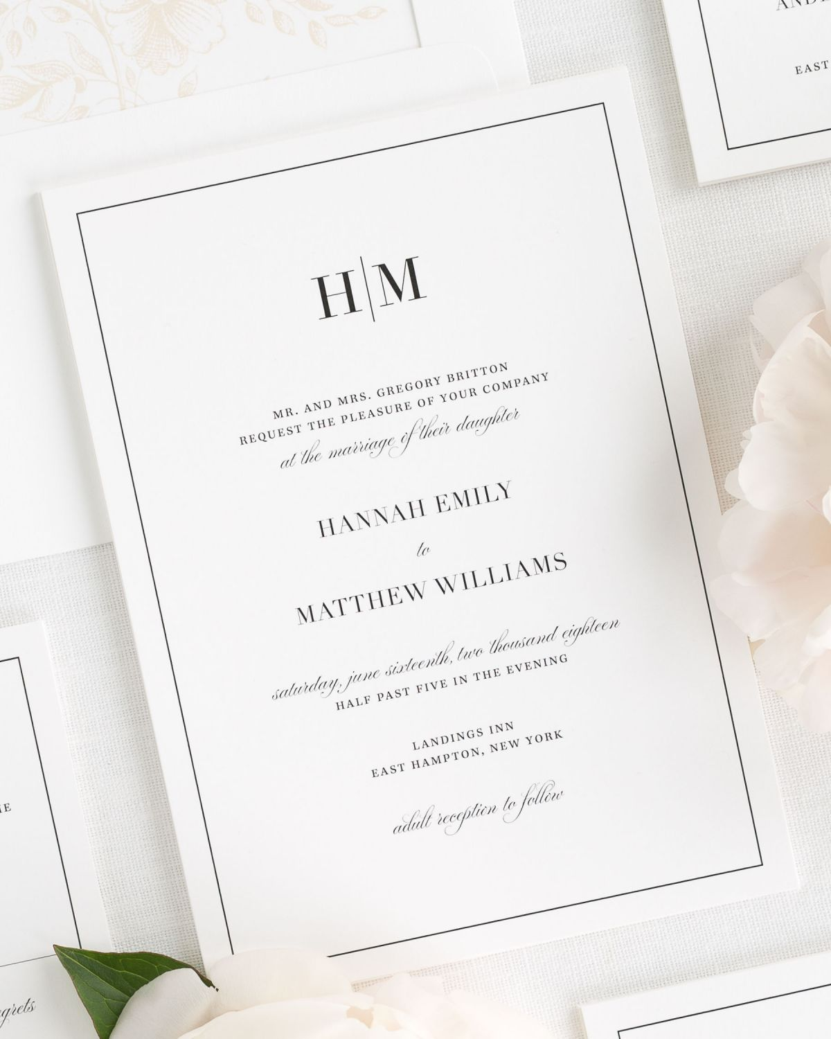 Glam Monogram Wedding Invitations - Wedding Invitations by Shine