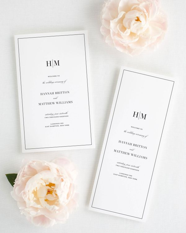 Glam Monogram Booklet Wedding Programs