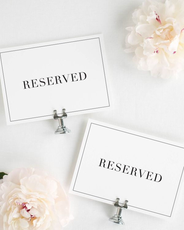 Glam Monogram Reserved Signs