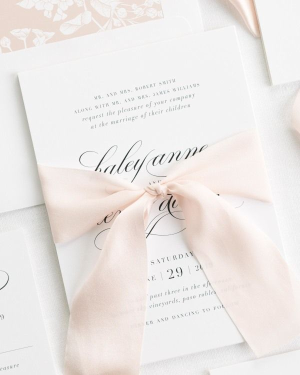 Haley Ribbon Wedding Invitations