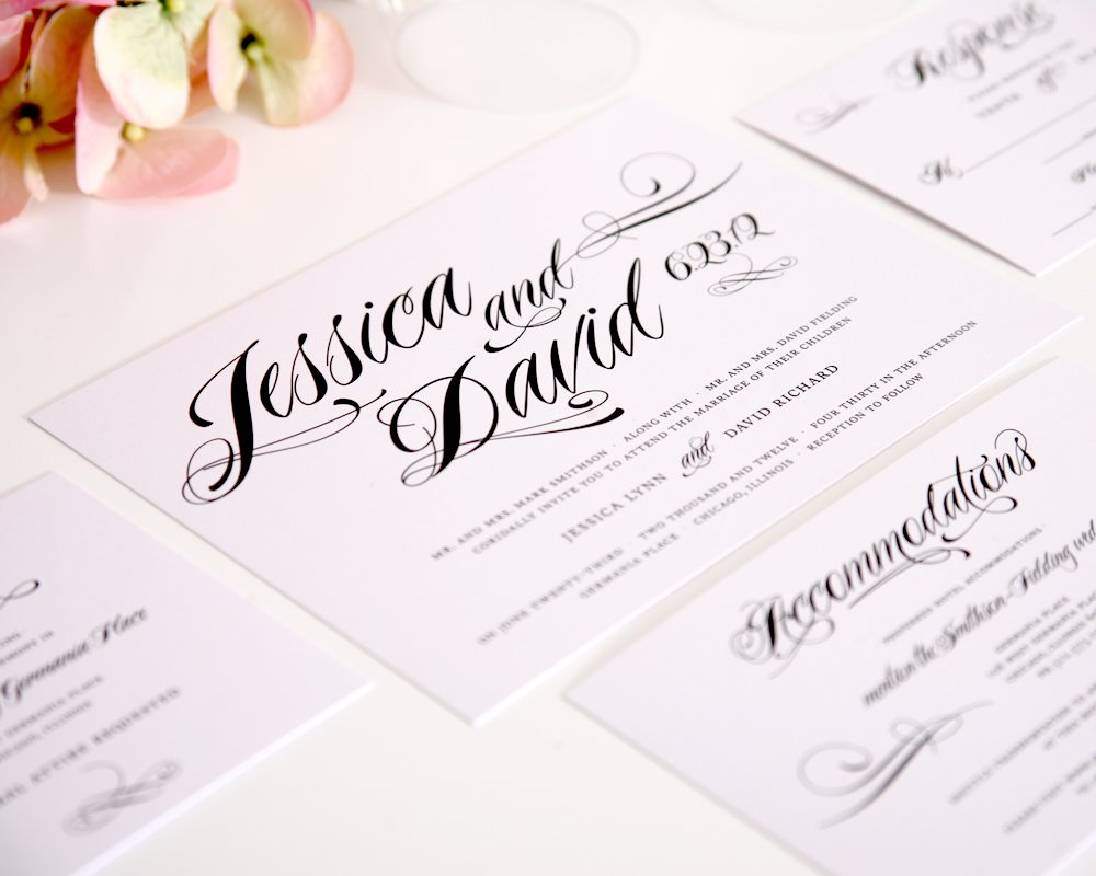 Script Wedding Invitation Collection