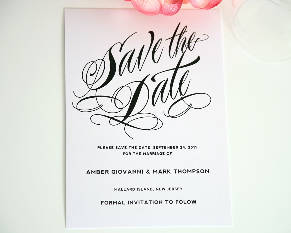 Modern and Unique Save the Date