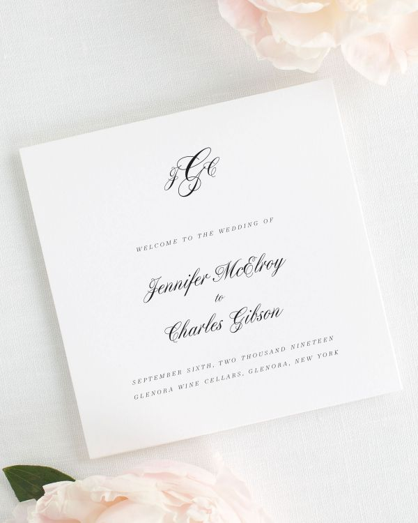 Jennifer Wedding Programs