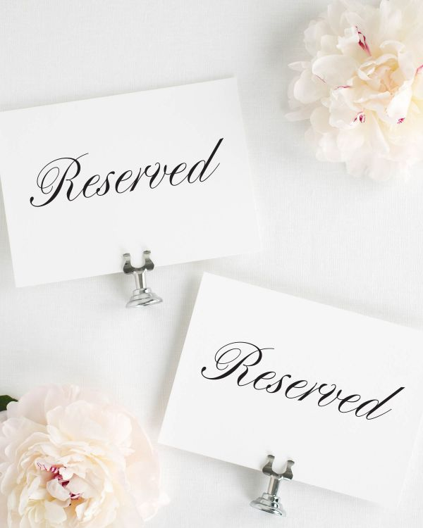 Jennifer Reserved Signs