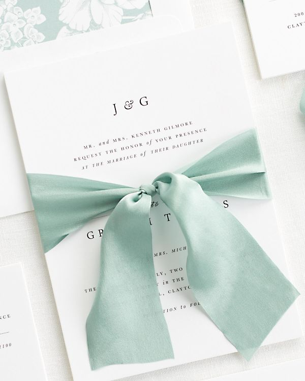 Jessica Ribbon Wedding Invitations