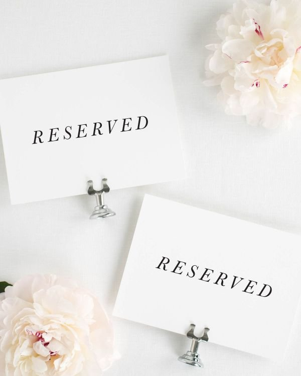 Jessica Reserved Signs