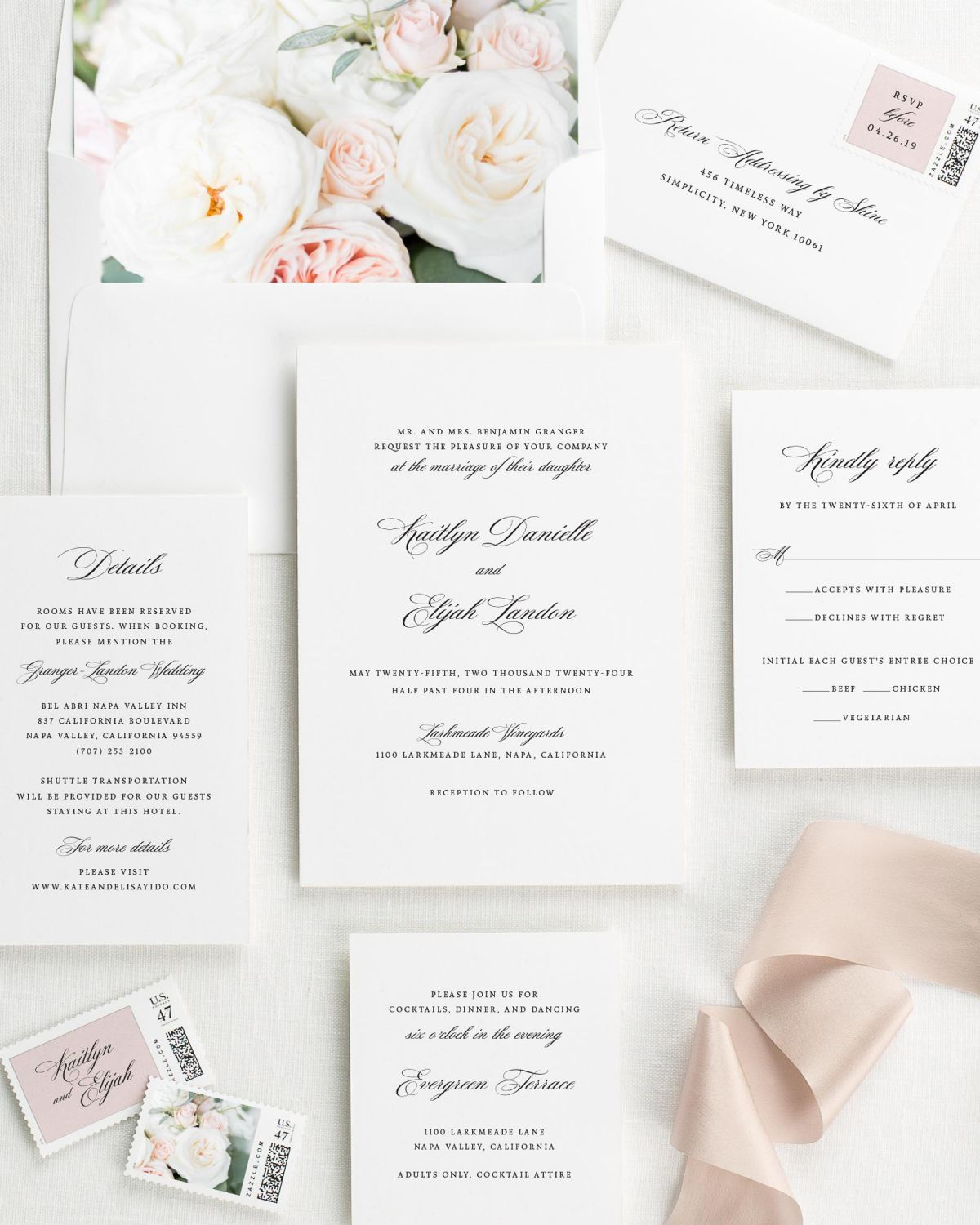 Kaitlyn floral wedding invitations floral wedding invitations by shine floral wedding invitations stopboris