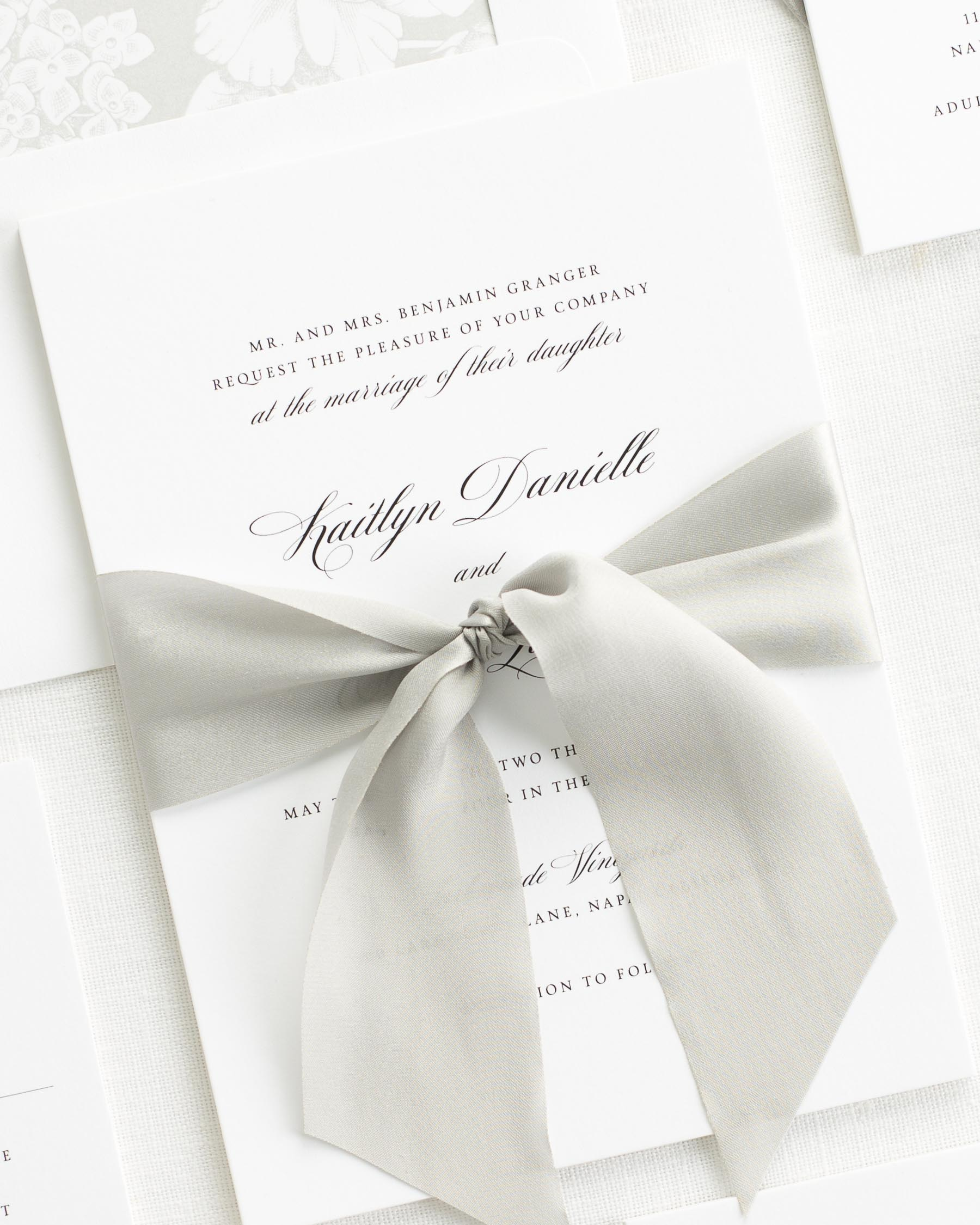Kaitlyn Ribbon Wedding Invitations