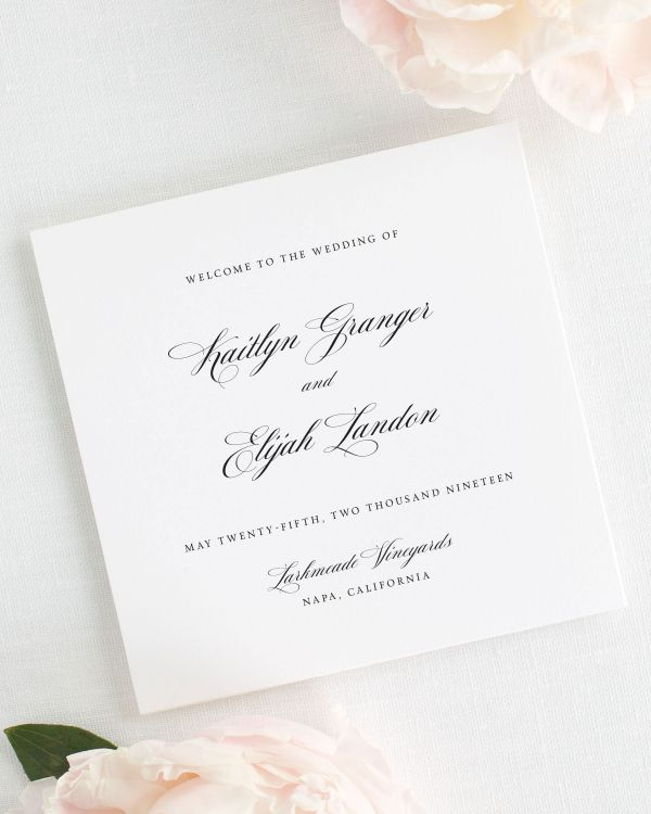 Kaitlyn Wedding Programs