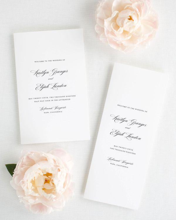 Kaitlyn Booklet Wedding Programs