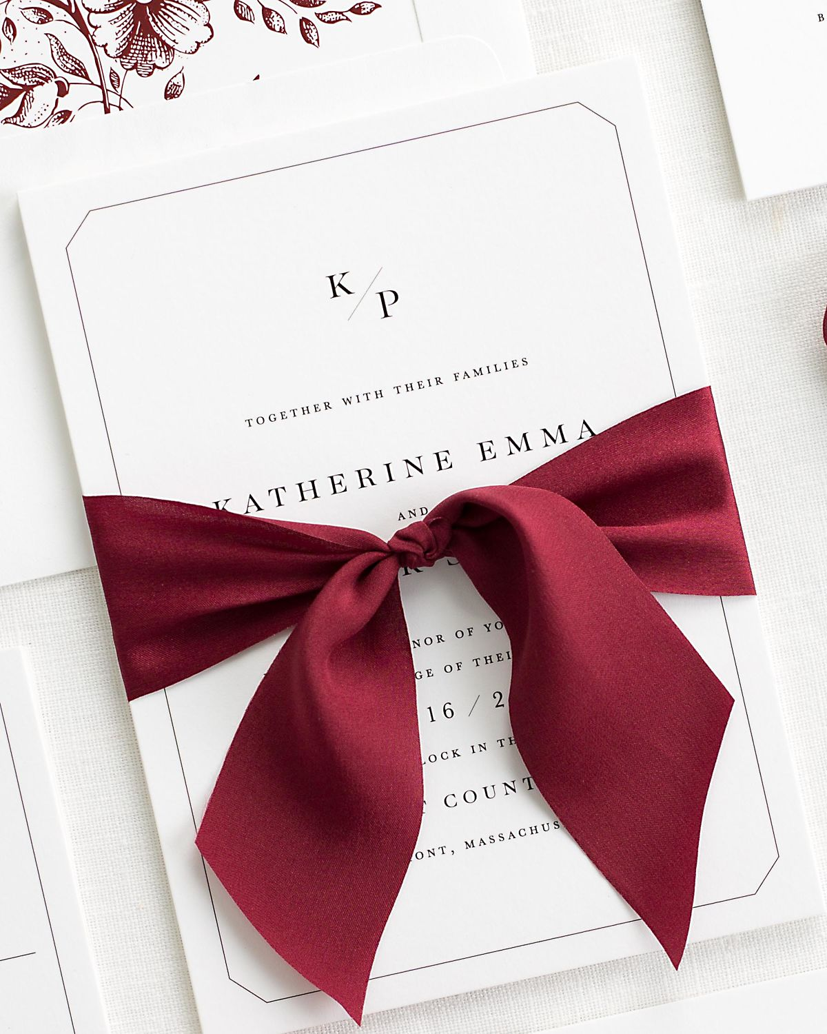 Katherine Ribbon Wedding Invitations - Ribbon Wedding Invitations by ...