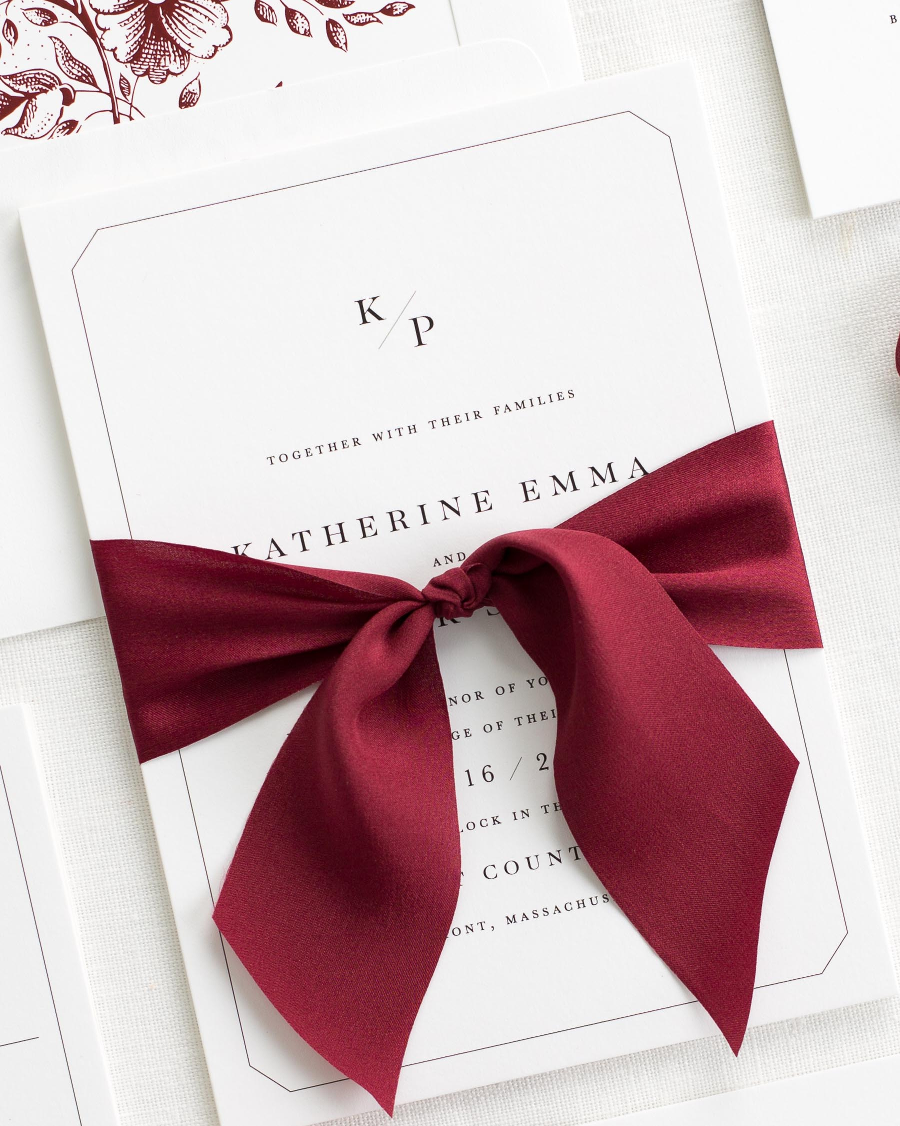 Katherine Ribbon Wedding Invitations