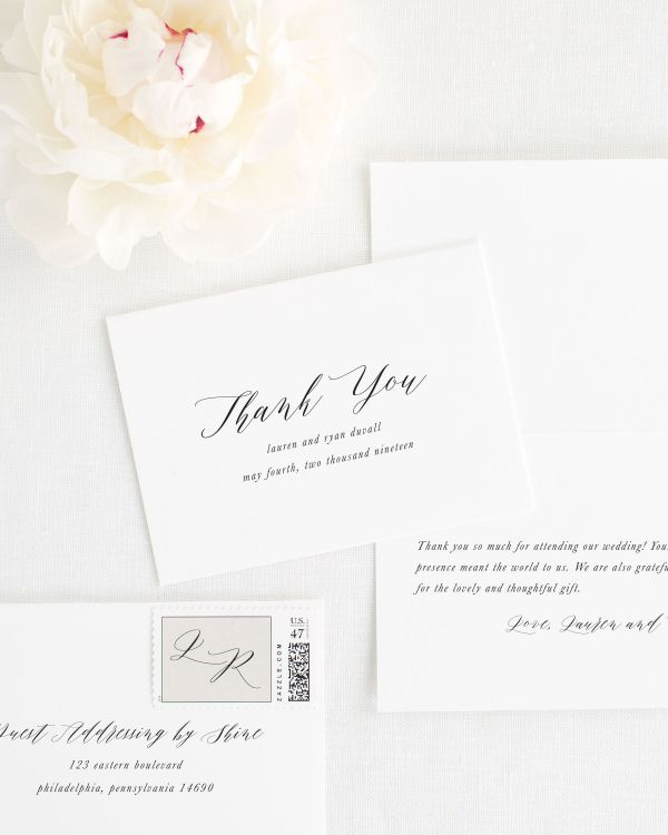Lauren Thank You Cards