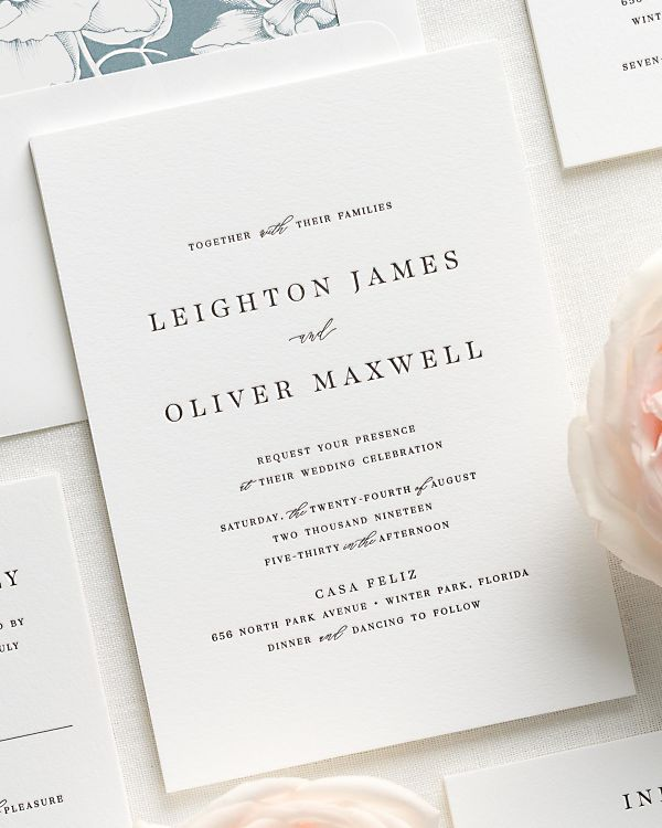 Leighton Letterpress Wedding Invitations