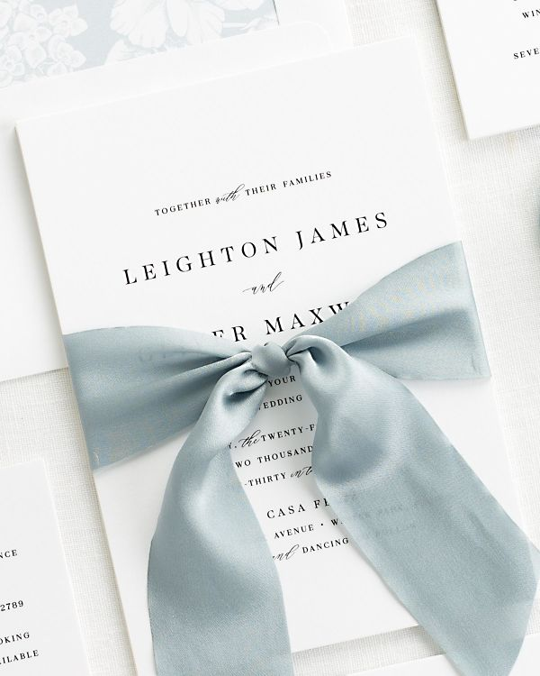 Leighton Ribbon Wedding Invitations