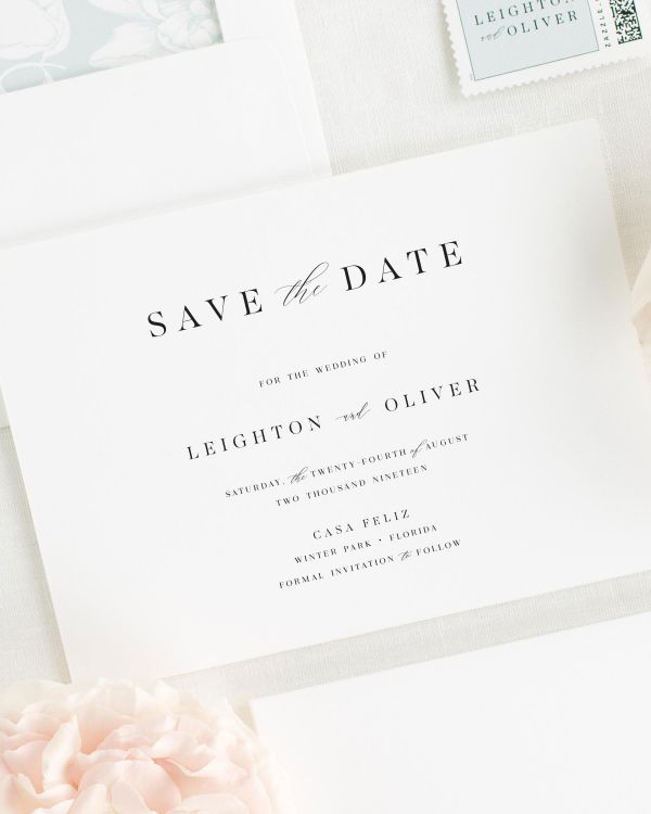 Leighton Save the Date Cards