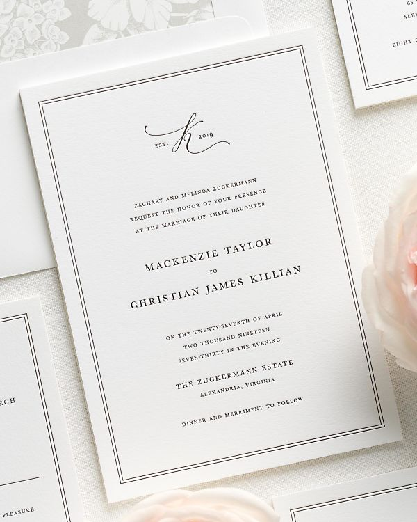 Mackenzie Letterpress Wedding Invitations