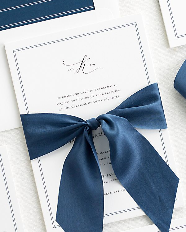 Mackenzie Ribbon Wedding Invitations