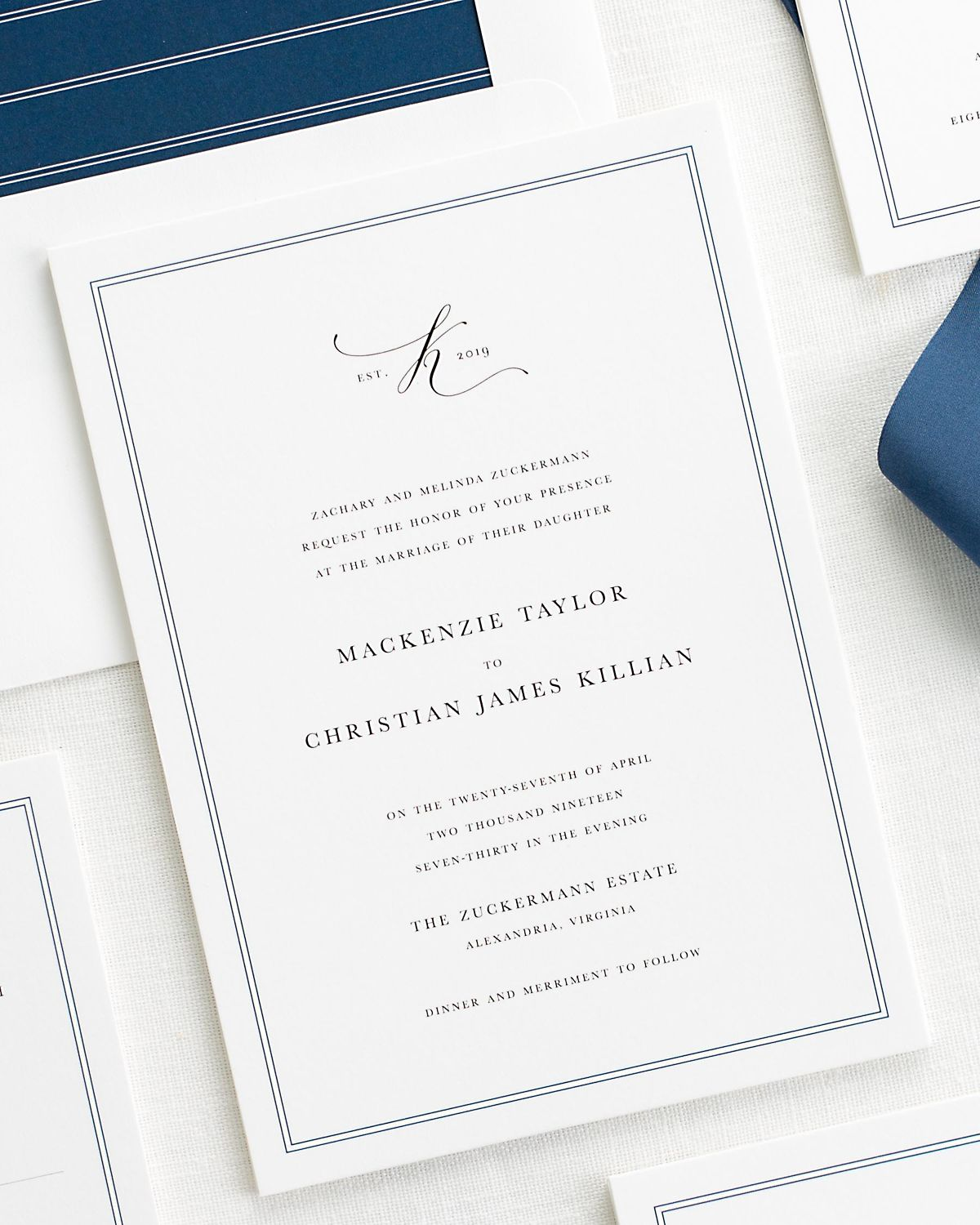 Mackenzie Wedding Invitations