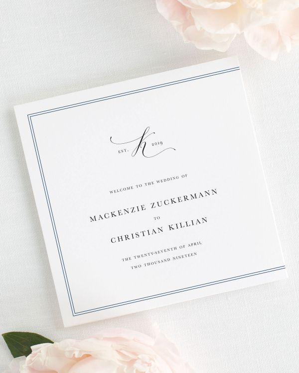 Mackenzie Wedding Programs
