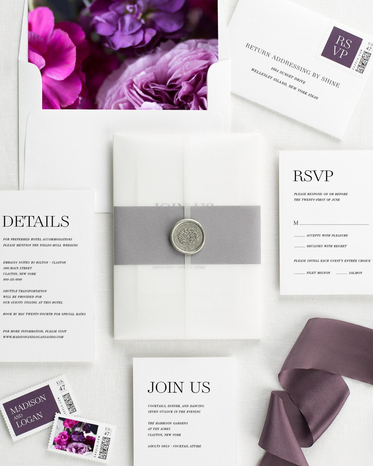 Wedding Invitations with Wax Seals