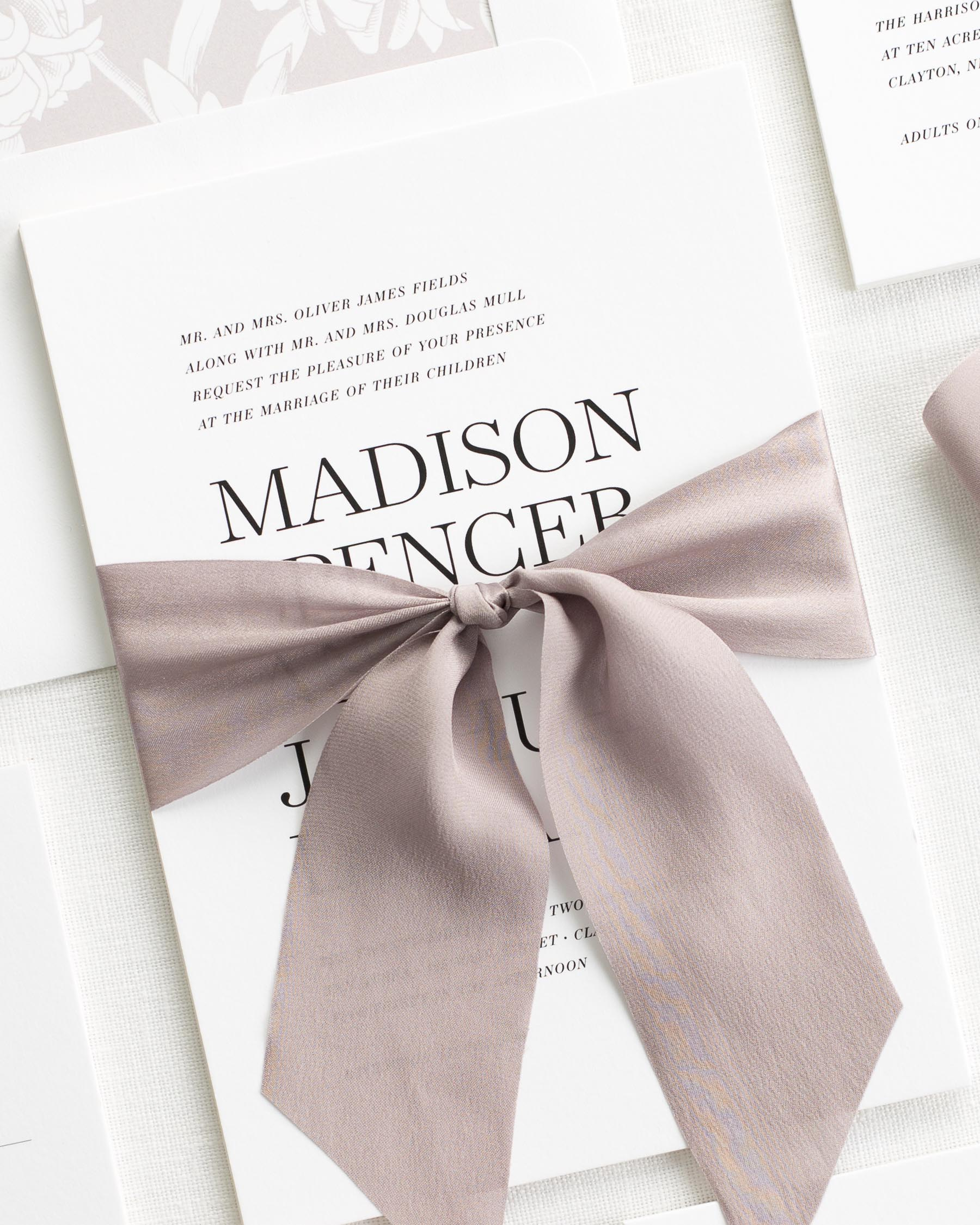Madison Ribbon Wedding Invitations