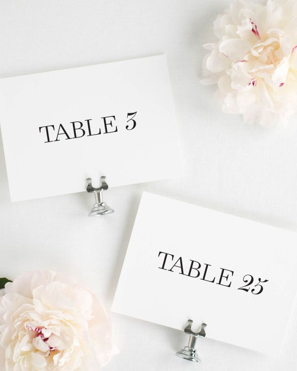 Madison Table Numbers