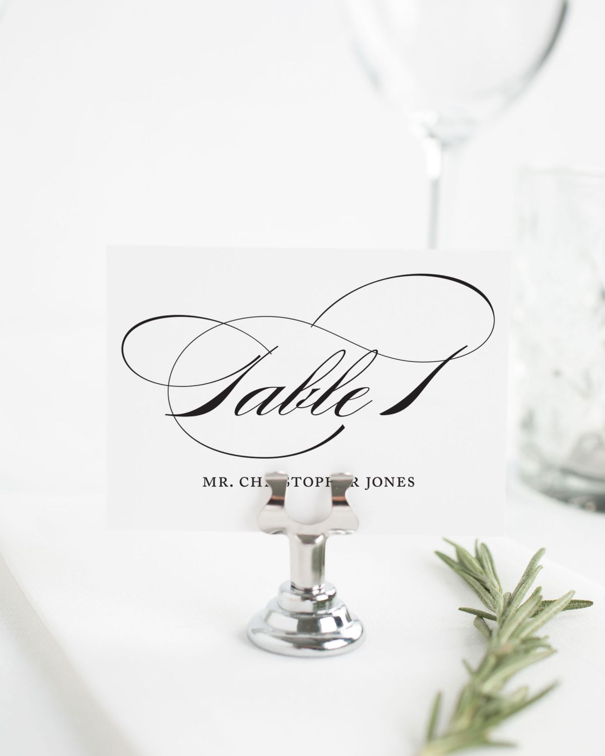 Classic Place Cards for Weddings