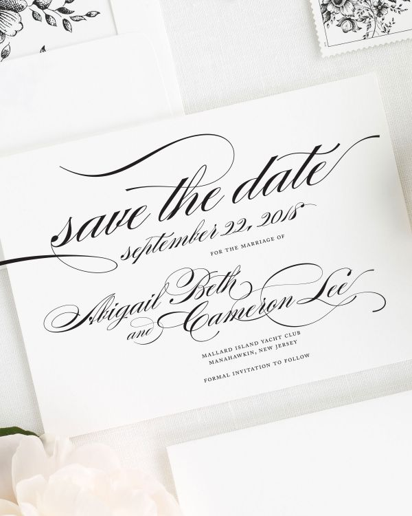 Marriage Save the Date Cards