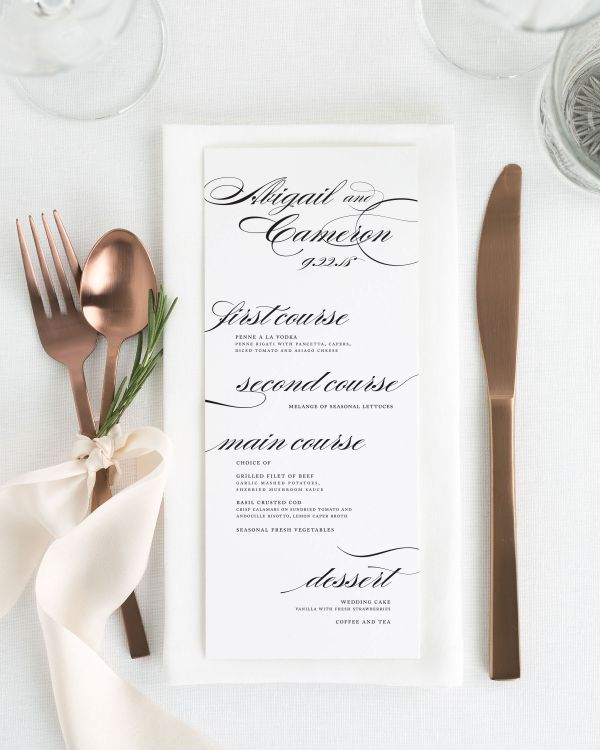 Marriage Dinner Menus